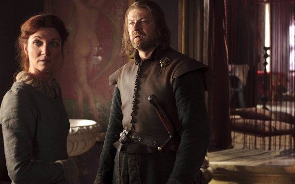 TV Show Game Of Thrones Catelyn Stark Eddard Stark Michelle Fairley Sean Bean HD Wallpaper   Background Image
