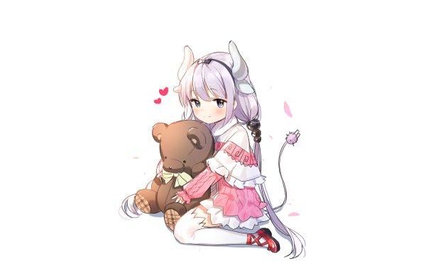 Anime Miss Kobayashi's Dragon Maid Kanna Kamui Teddy Bear Stuffed Animal HD Wallpaper | Background Image