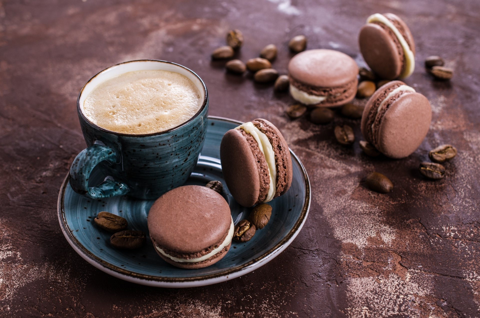 Food - Coffee  Still Life Macaron Coffee Beans Wallpaper