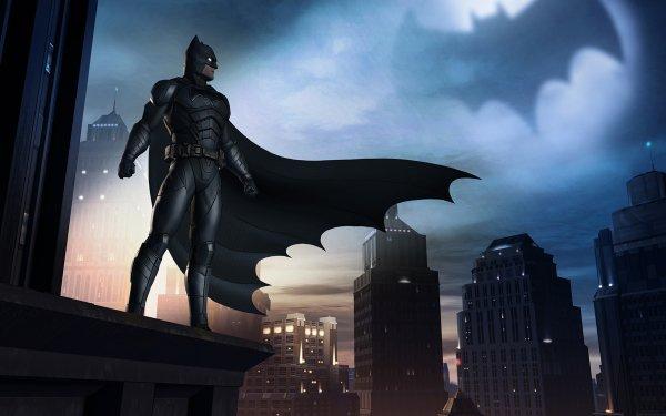 Video Game Batman: The Telltale Series Batman Bat-Signal Gotham City HD Wallpaper   Background Image