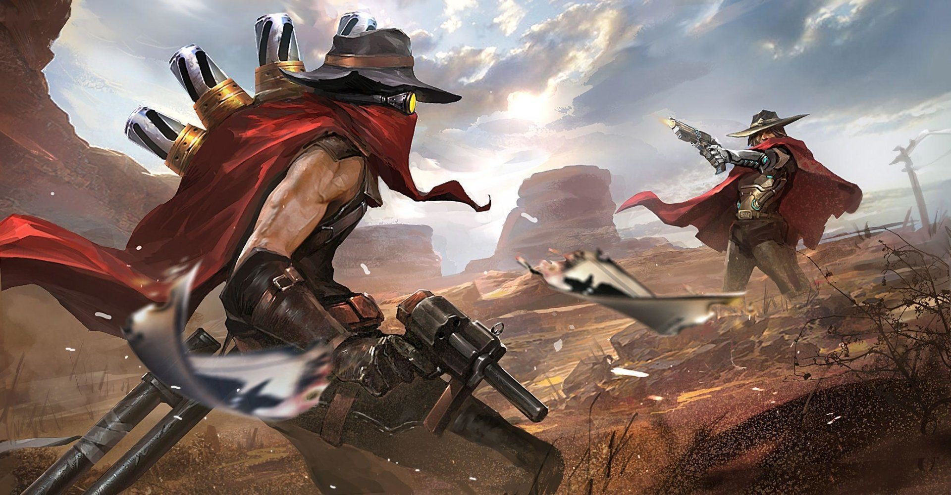 Video Game - Crossover  Overwatch McCree (Overwatch) Jhin (League of Legends) League Of Legends Wallpaper