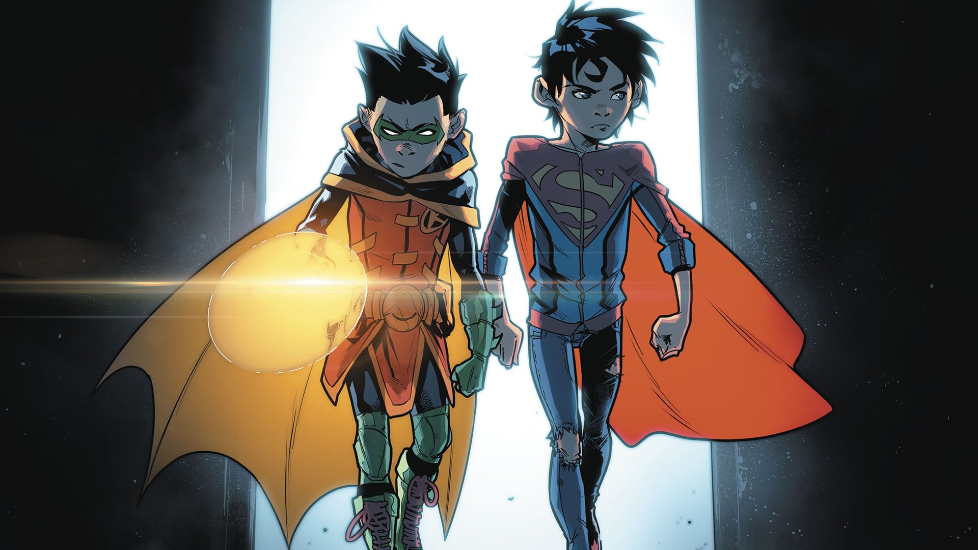 Comics - DC Comics  Superboy Robin (Batman) Batman Superman Damian Wayne Wallpaper