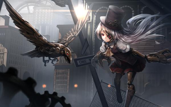 Anime Original Steampunk HD Wallpaper   Background Image