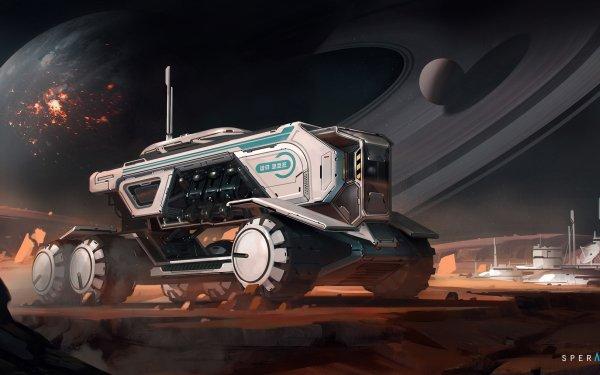 Sci Fi Vehicle Planet Futuristic Planetary Ring HD Wallpaper   Background Image