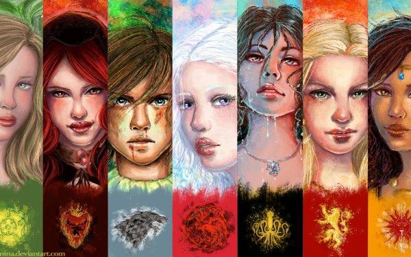 Fantasy A Song Of Ice And Fire Margaery Tyrell Melisandre Arya Stark Daenerys Targaryen Asha Greyjoy Cersei Lannister Arianne Martell HD Wallpaper | Background Image