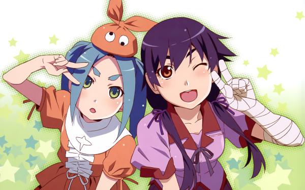 Anime Monogatari (Series) Yotsugi Ononoki Suruga Kanbaru HD Wallpaper   Background Image