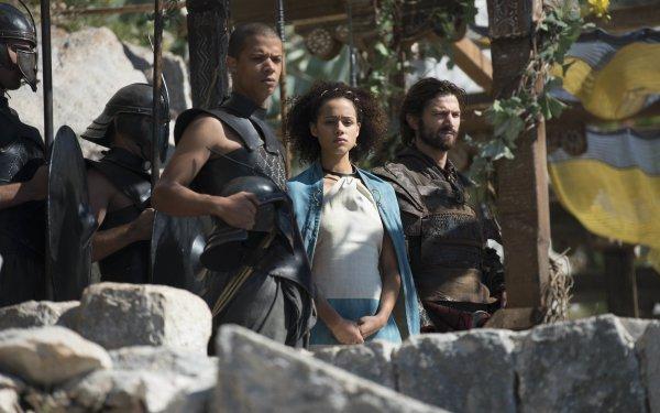 TV Show Game Of Thrones Grey Worm Missandei Daario Naharis Michiel Huisman Nathalie Emmanuel Jacob Anderson HD Wallpaper | Background Image