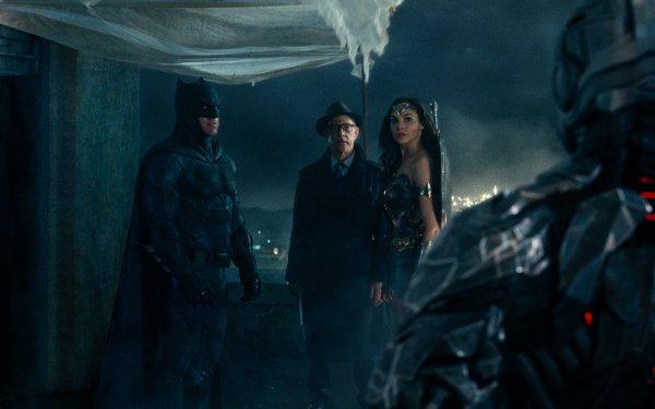 Movie Justice League Batman Wonder Woman Gal Gadot J.K. Simmons Commissioner Gordon Ben Affleck HD Wallpaper | Background Image