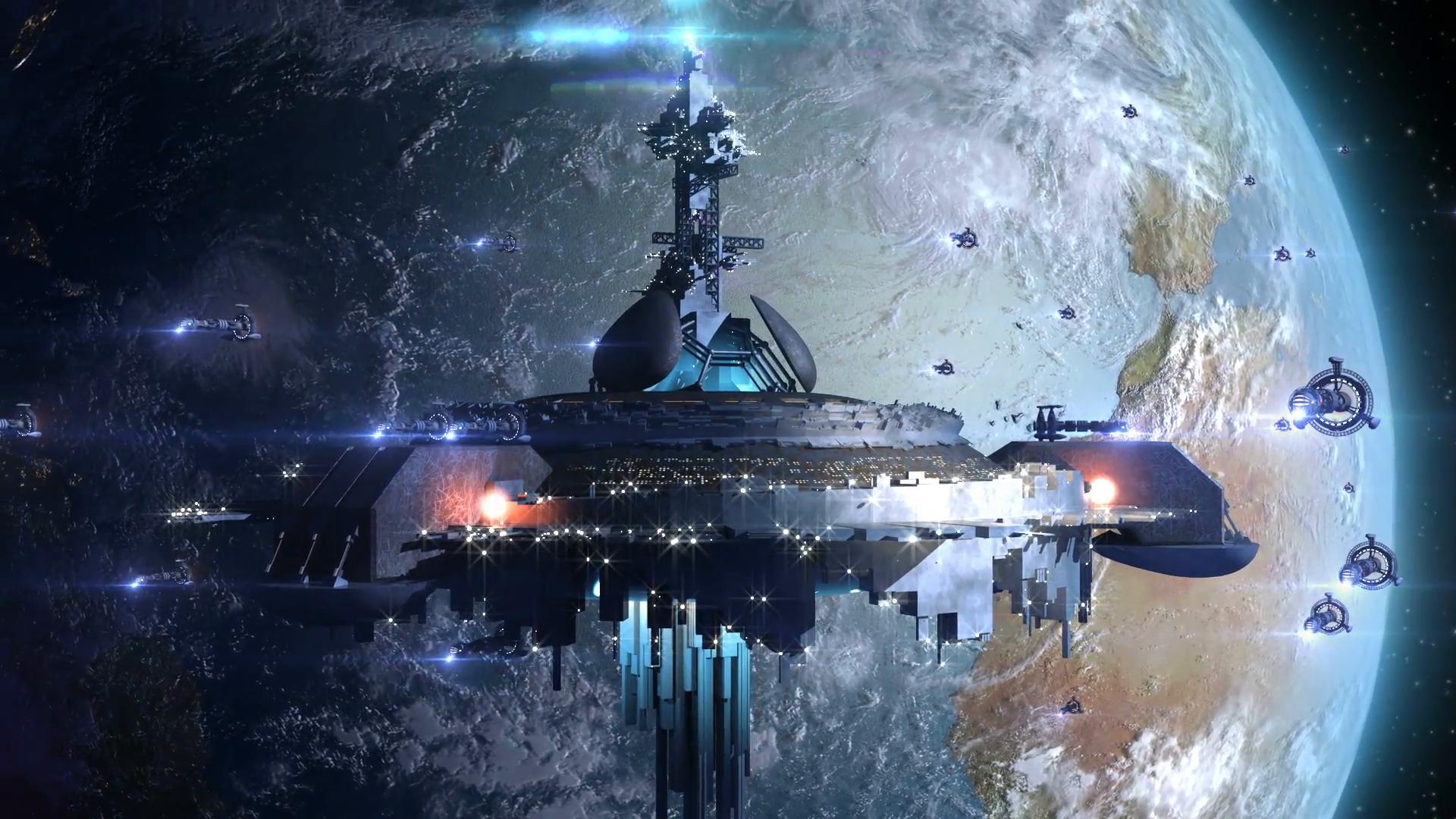 Alien space station hd wallpaper background image - Space station wallpaper ...