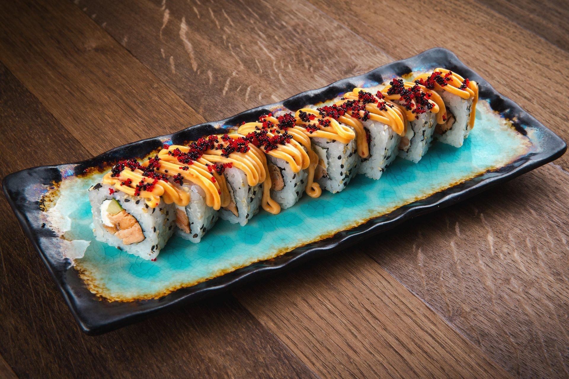 Food - Sushi  Fish Rice Seafood Wallpaper