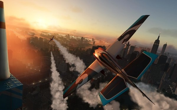 Video Game The Crew 2 Biplane Aircraft The Crew City Racing HD Wallpaper   Background Image