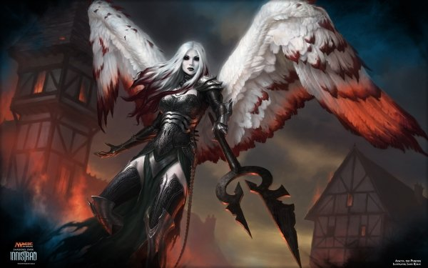 Game Magic: The Gathering Angel Warrior Wings White Hair Girl Avacyn HD Wallpaper   Background Image