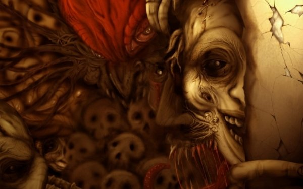 Oscuro Nightmare Cráneos Demonio Fondo de pantalla HD | Fondo de Escritorio