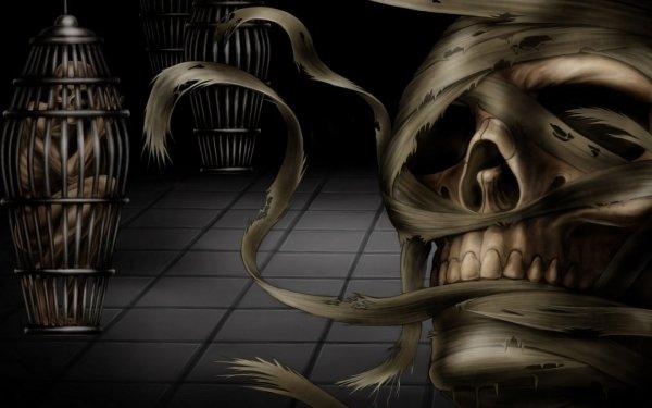 Dark Mummy Cage Skull HD Wallpaper | Background Image