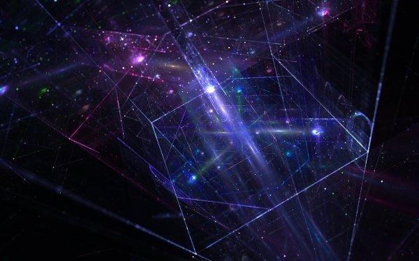 Abstract Geometry Apophysis Glow Purple HD Wallpaper | Background Image