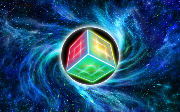 Abstract Cube Rubik's Cube Space Black Hole HD Wallpaper | Background Image