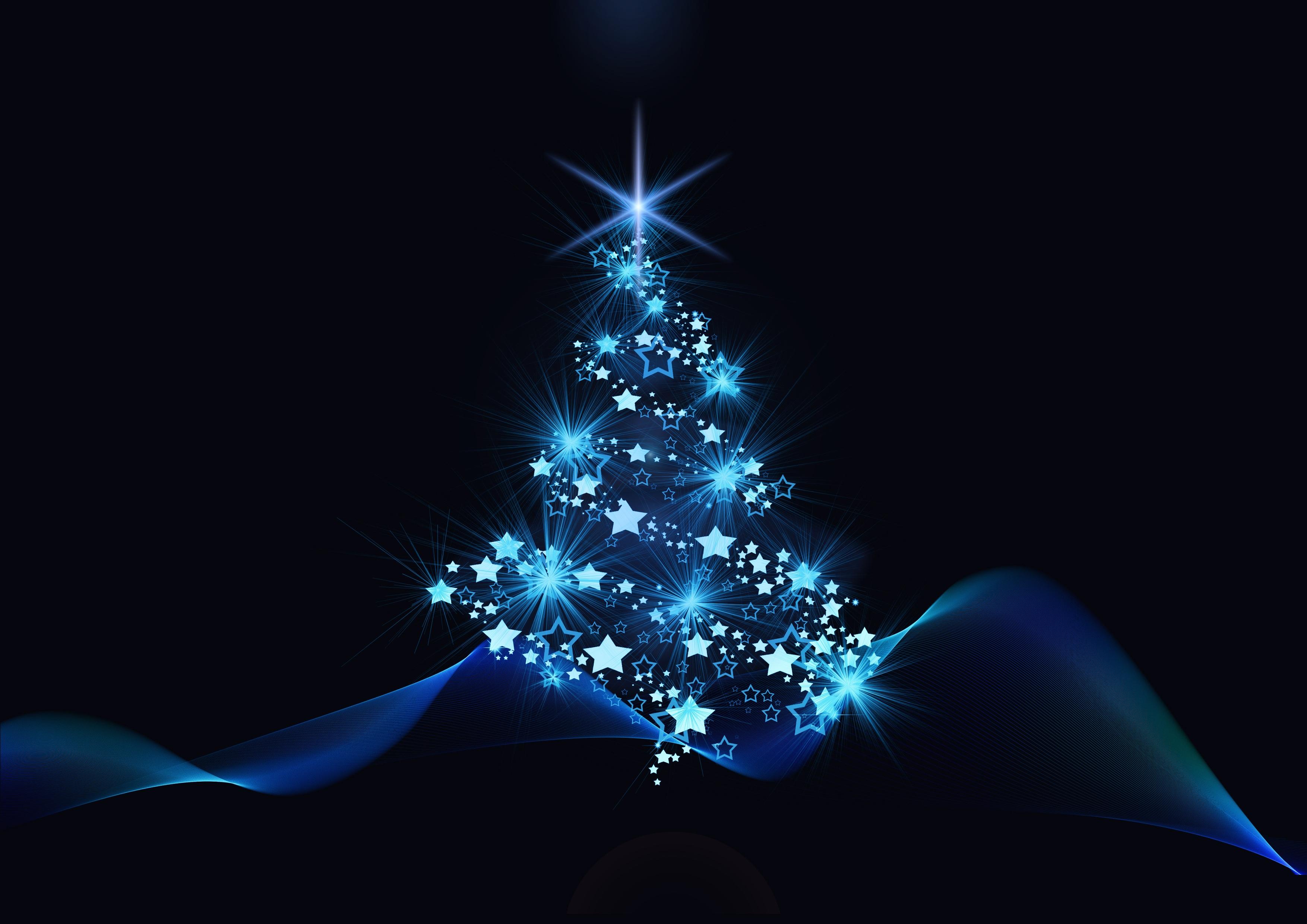 blue christmas tree fond d 39 cran hd arri re plan. Black Bedroom Furniture Sets. Home Design Ideas