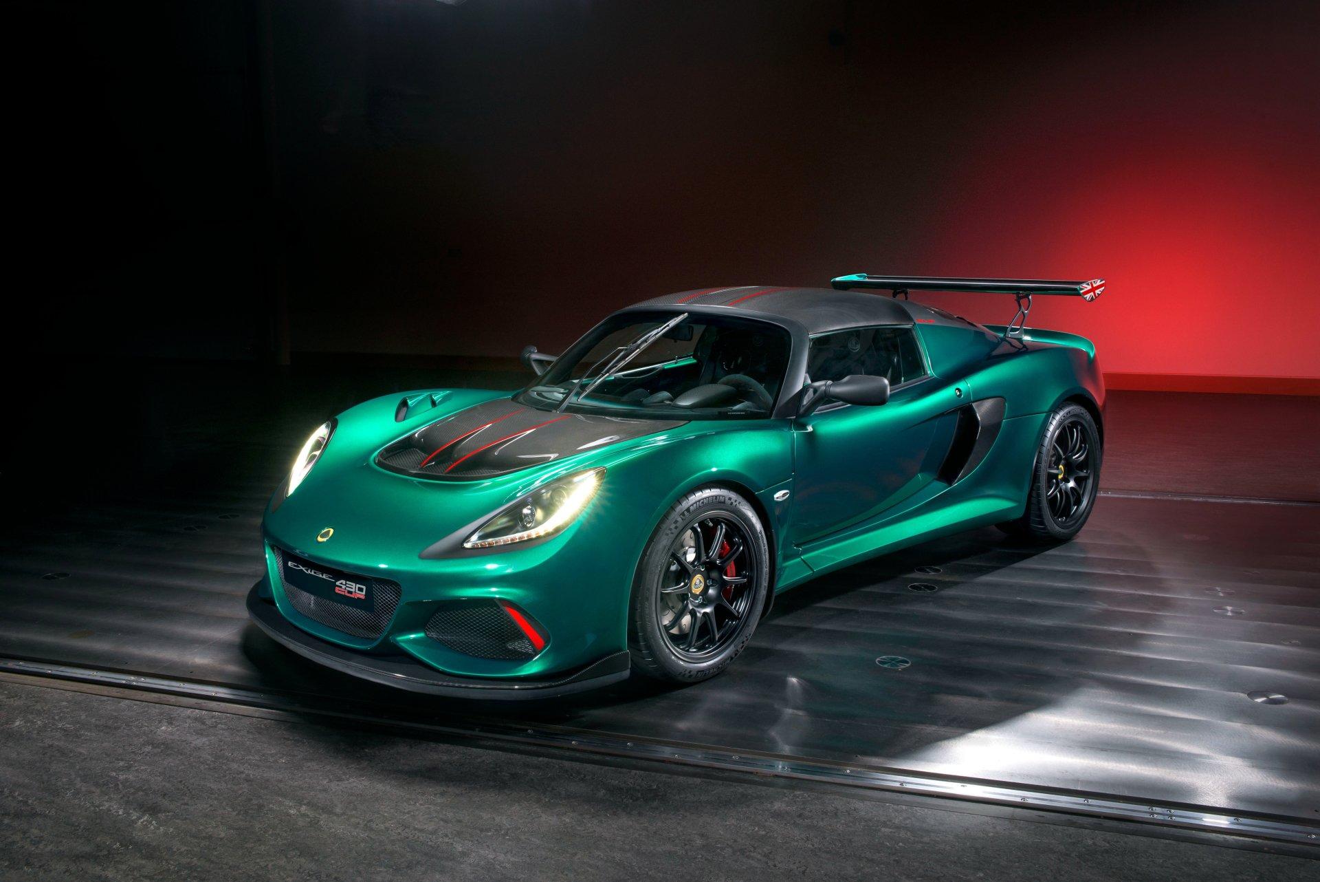 Pojazdy - Lotus Exige  Sport Car Supercar Green Car Samochód Lotus Exige Cup 430 Tapeta