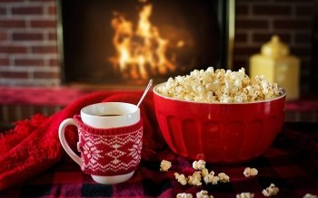 Food Popcorn Drink Snack HD Wallpaper | Background Image