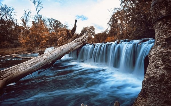 Earth Waterfall Waterfalls Nature Stem Water Vegetation Rock HD Wallpaper   Background Image