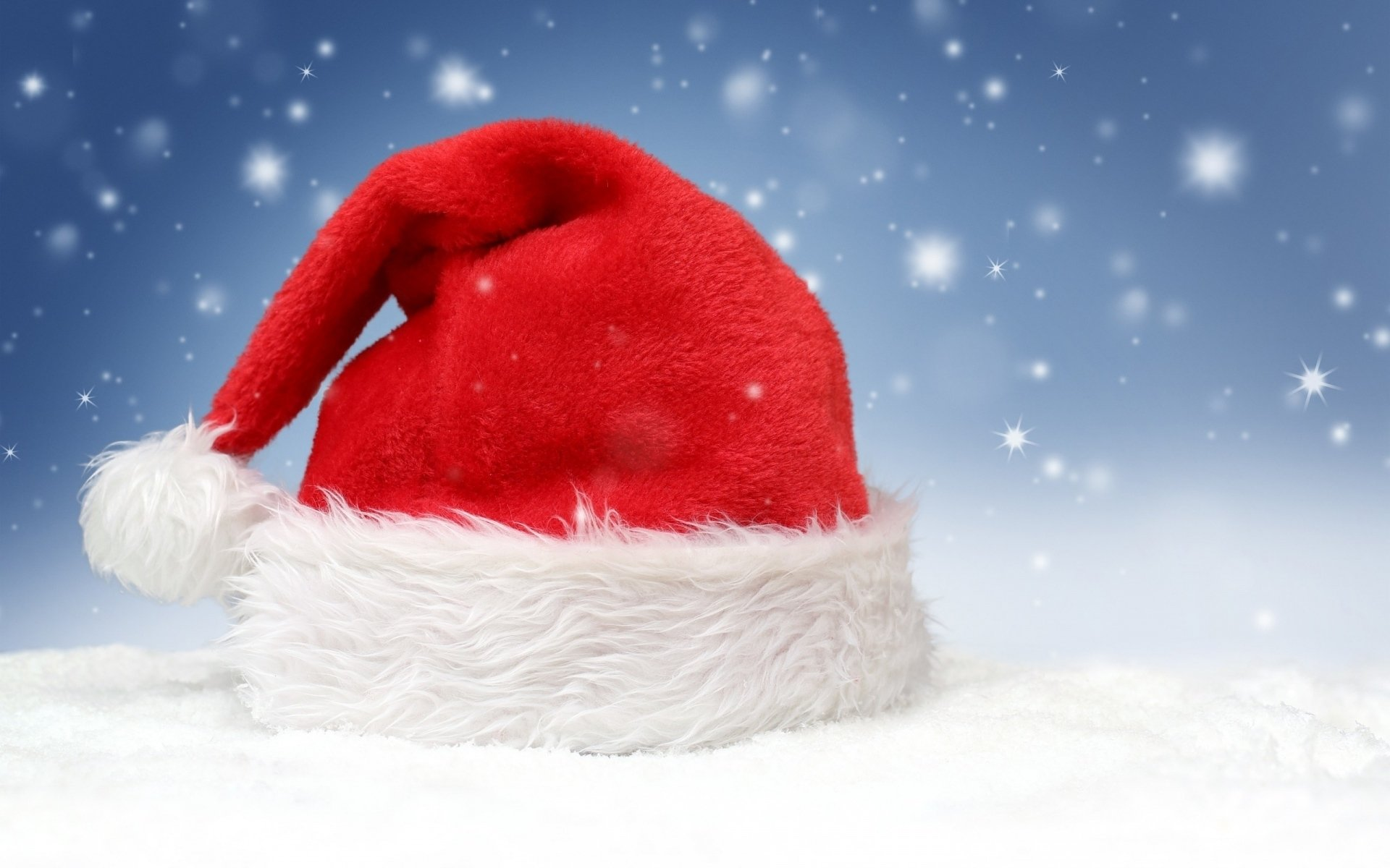 Holiday - Christmas  Santa Hat Snow Wallpaper