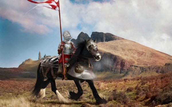 Fantasy Knight Horse Armor Medieval HD Wallpaper | Background Image