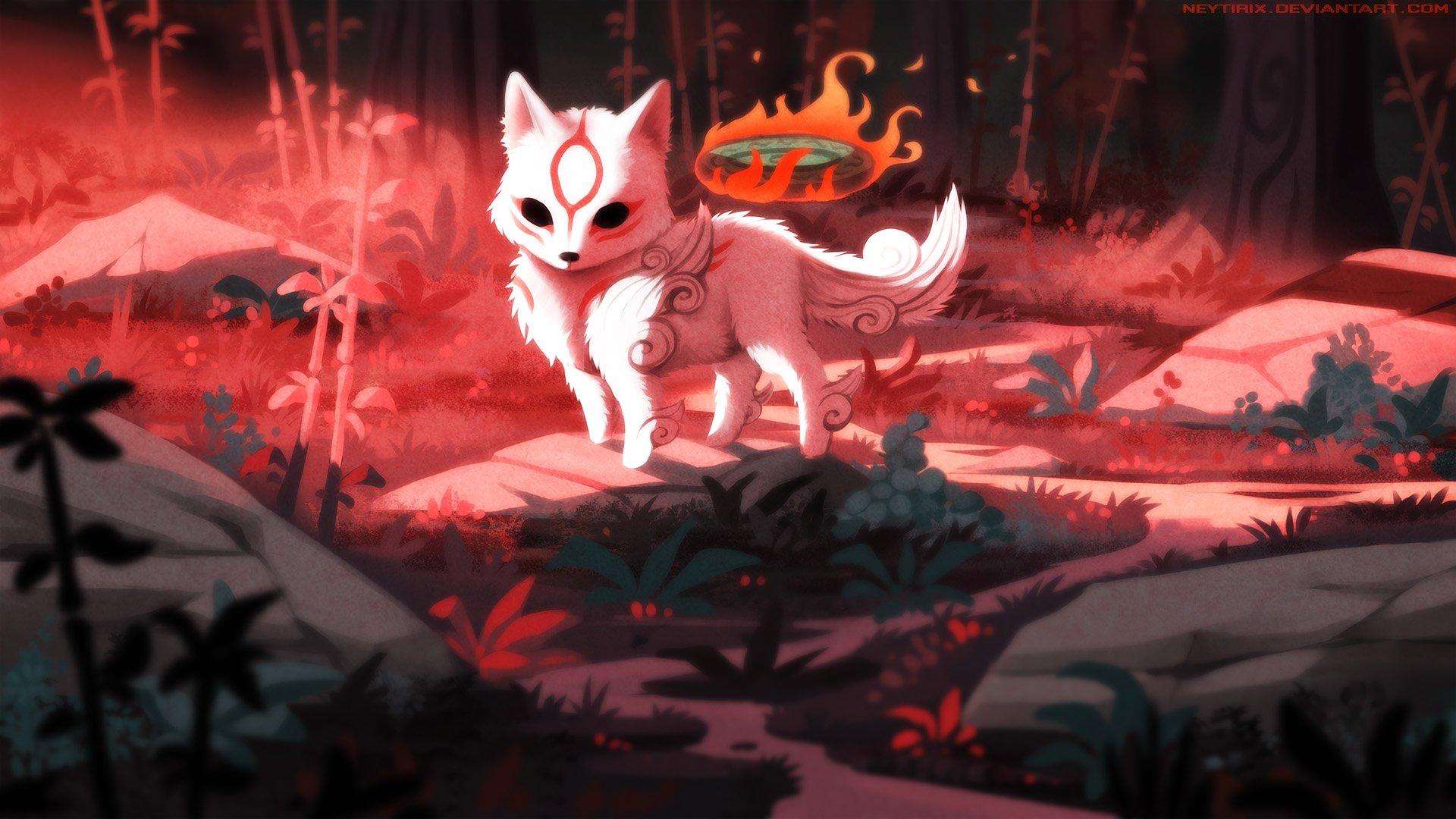 电子游戏 - 大神  狐狸 动物 壁纸
