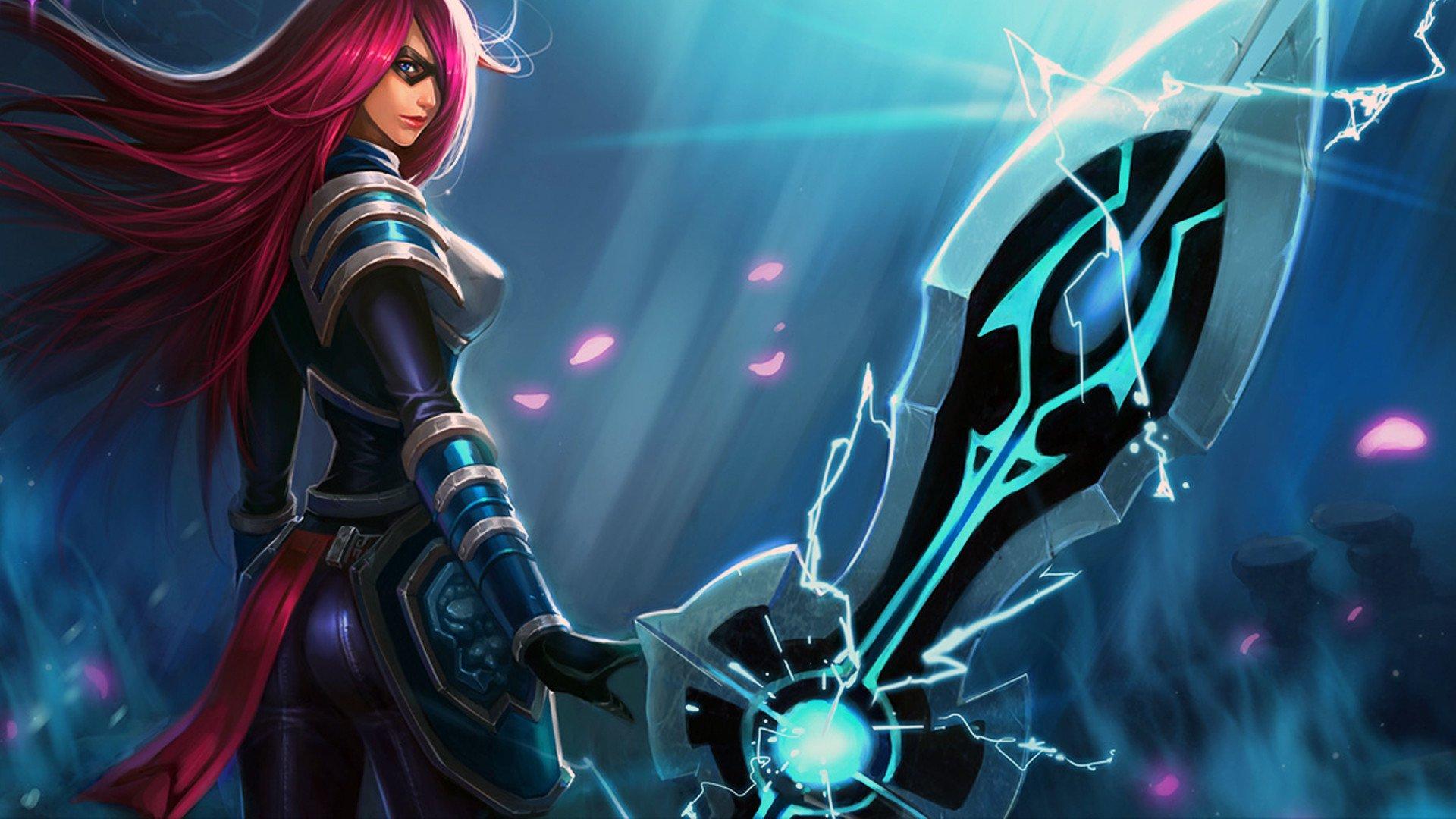 Vídeo Game - League Of Legends  Pink Hair Fantasia Garota Woman Warrior Long Hair Armor Irelia (League Of Legends) Weapon Papel de Parede