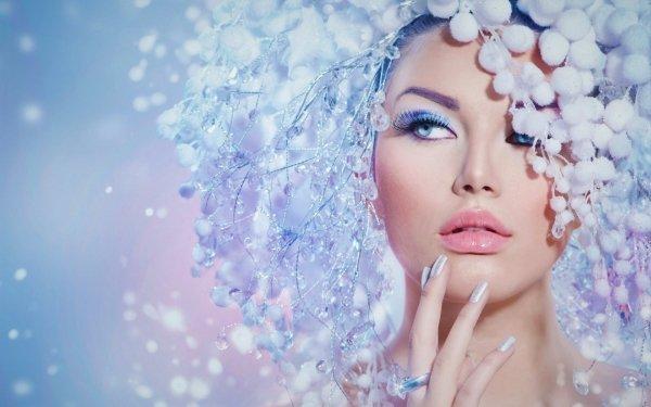 Women Judy Wilkins Models Woman Girl Winter Face Blue Eyes HD Wallpaper | Background Image