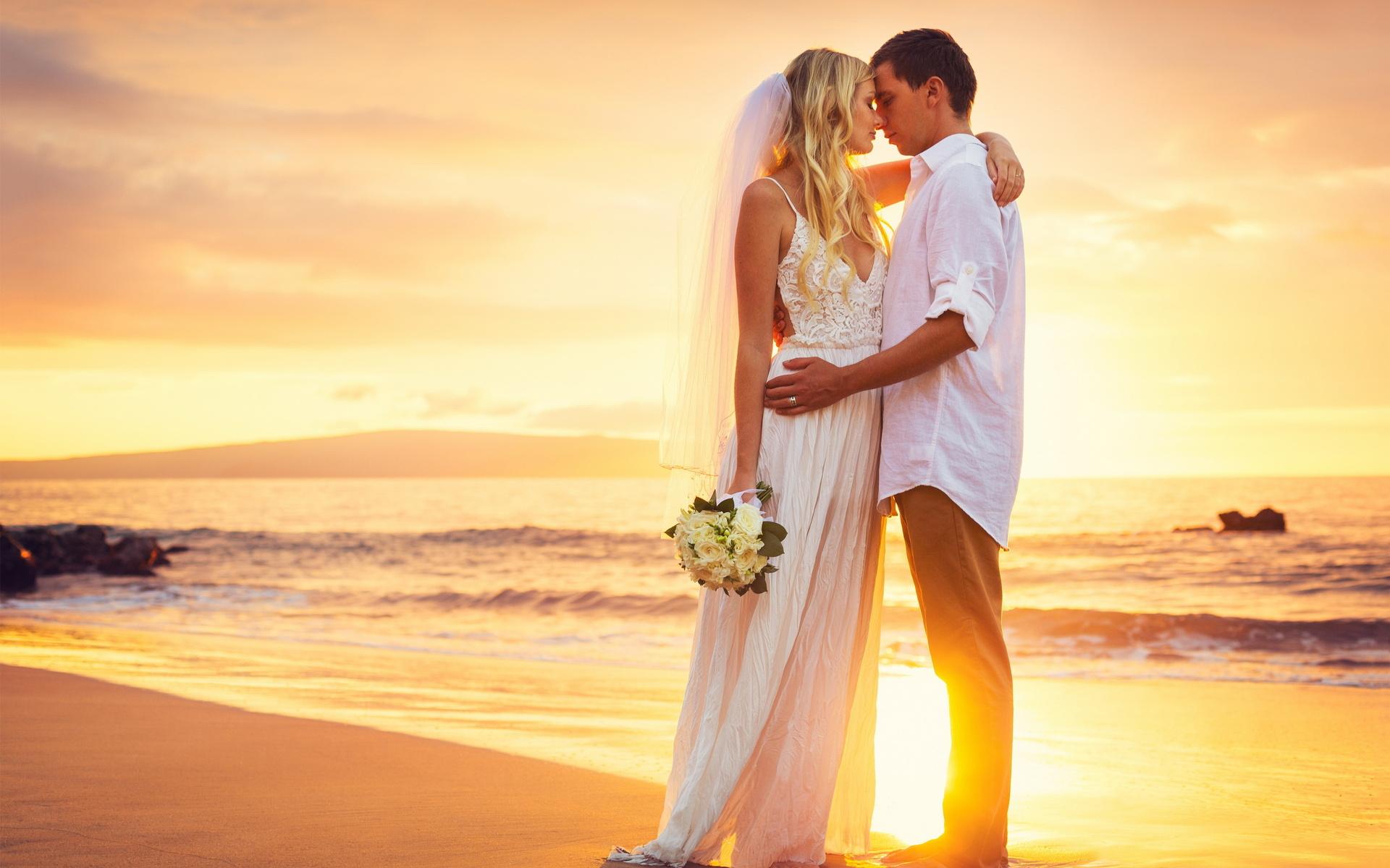 Bride And Groom HD Wallpaper