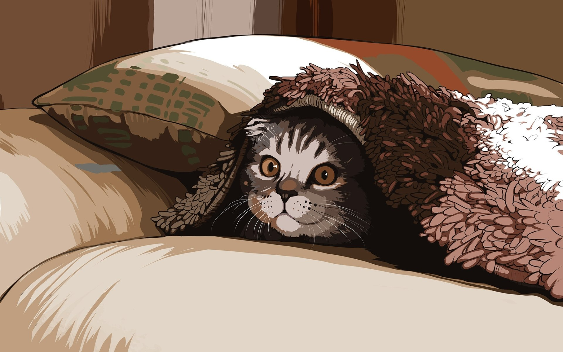 Animal - Cat  Artistic Pet Wallpaper