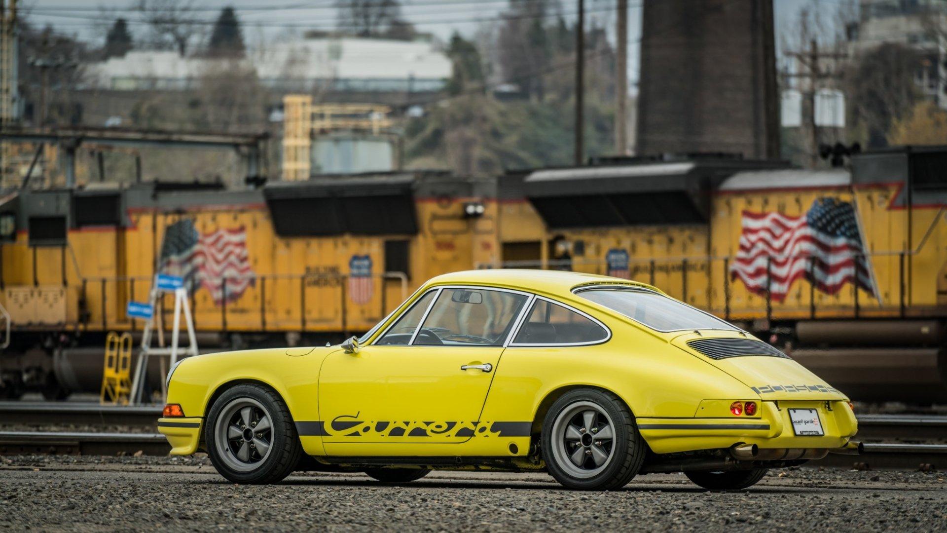 Vehicles - Porsche 911 Carrera T  Sport Car Yellow Car Old Car Car Wallpaper