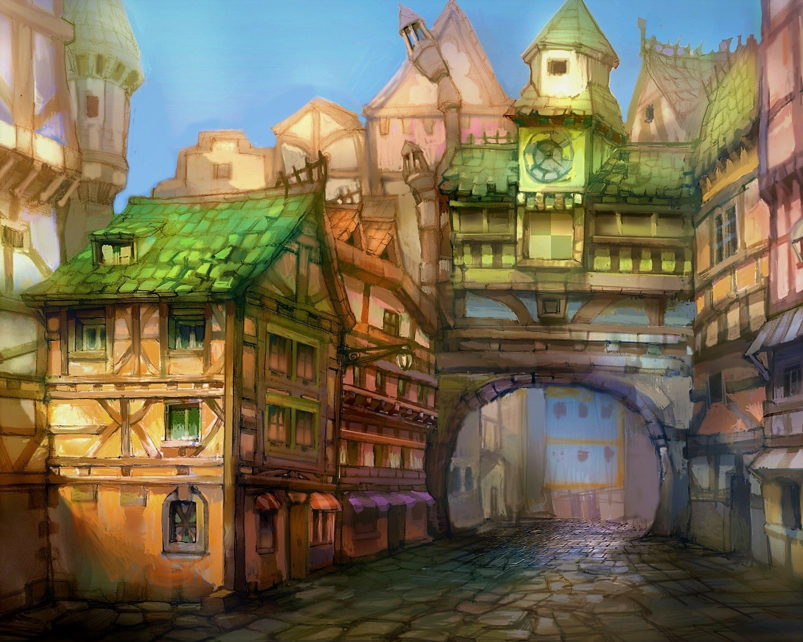 Fantasy Town Wallpaper and Background Image | 1600x1280 | ID