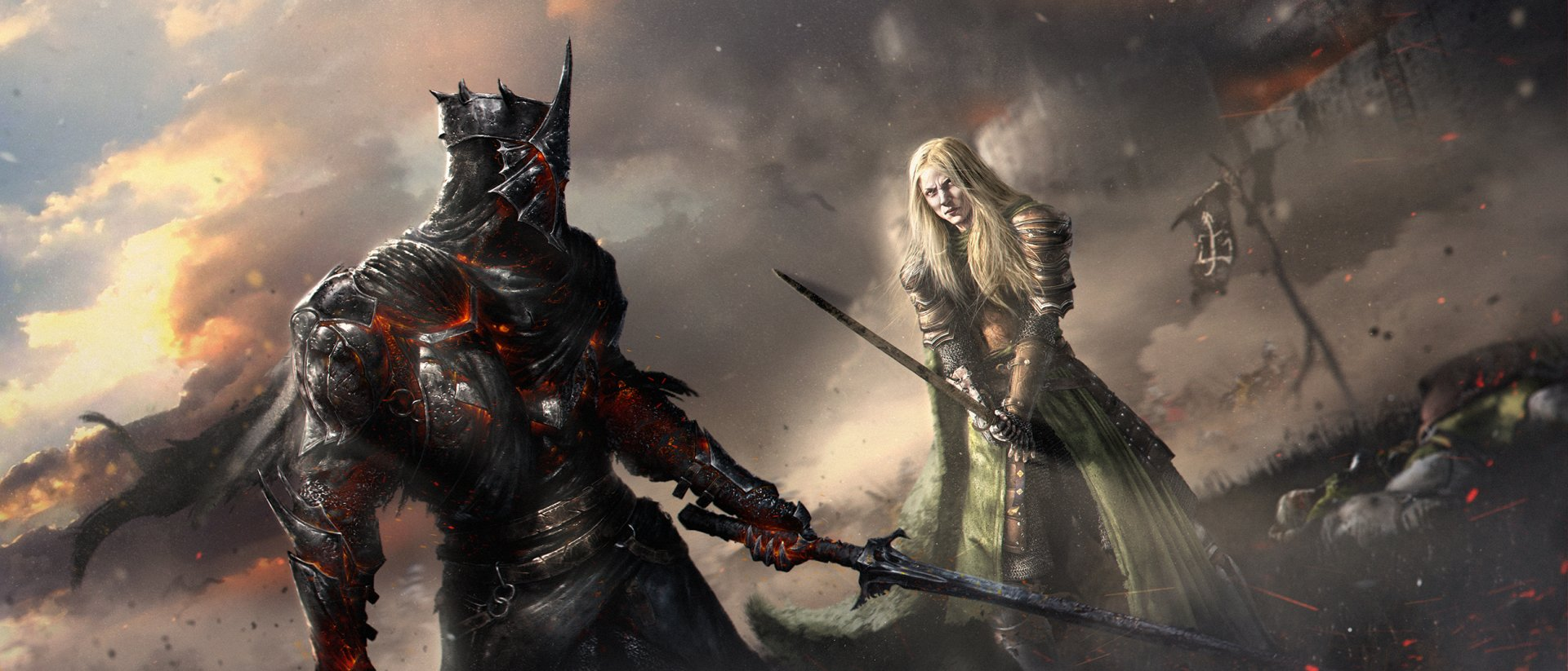 Fantasy - Lord of the Rings  Woman Warrior Warrior Armor Nazgûl Sword Wallpaper