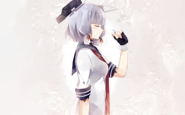 Anime Kantai Collection Murakumo Girl HD Wallpaper   Background Image