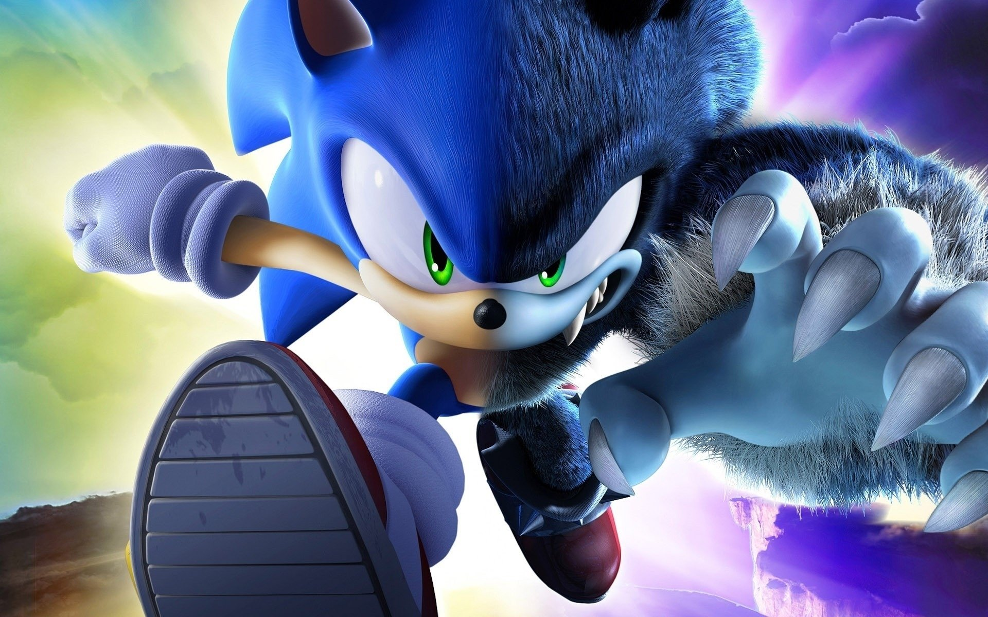 Video Game - Sonic Unleashed  Sonic the Hedgehog Hedgehog Green Eyes Wallpaper