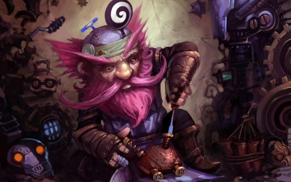 Video Game Hearthstone: Heroes of Warcraft Warcraft Pink Hair Gnome HD Wallpaper | Background Image