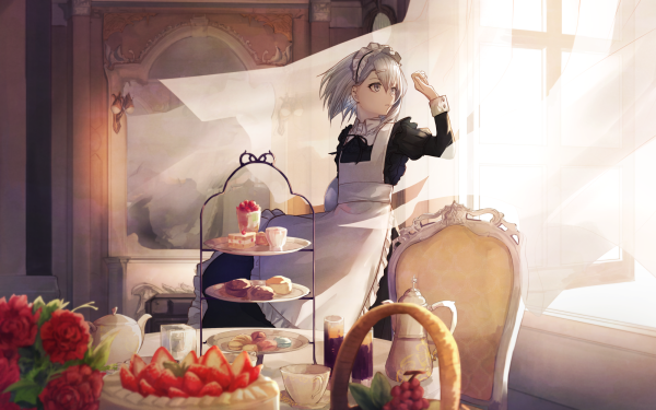 Anime Original Cake Maid Sweets HD Wallpaper | Background Image