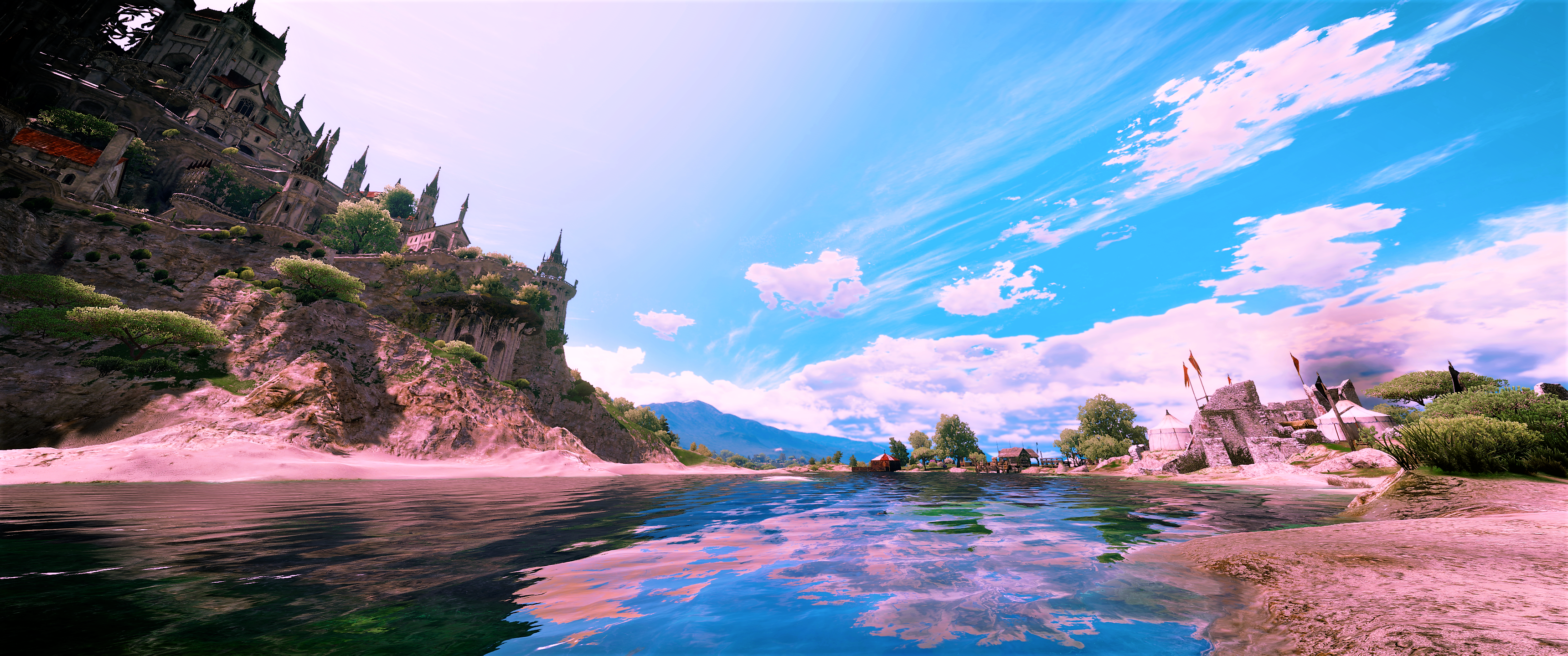 tossaint river hd wallpaper background image 3440x1440 id
