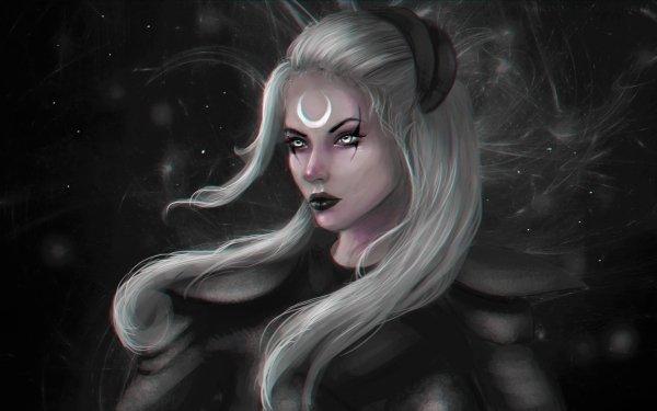 Videojuego League Of Legends Fantasía Woman White Hair Diana Fondo de pantalla HD | Fondo de Escritorio