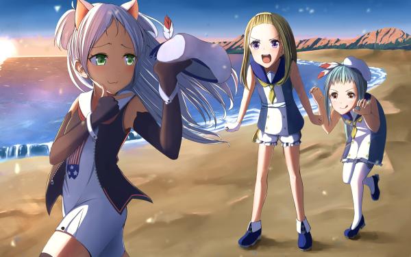 Anime Azur Lane Thatcher Sims Charles Ausburne HD Wallpaper   Background Image