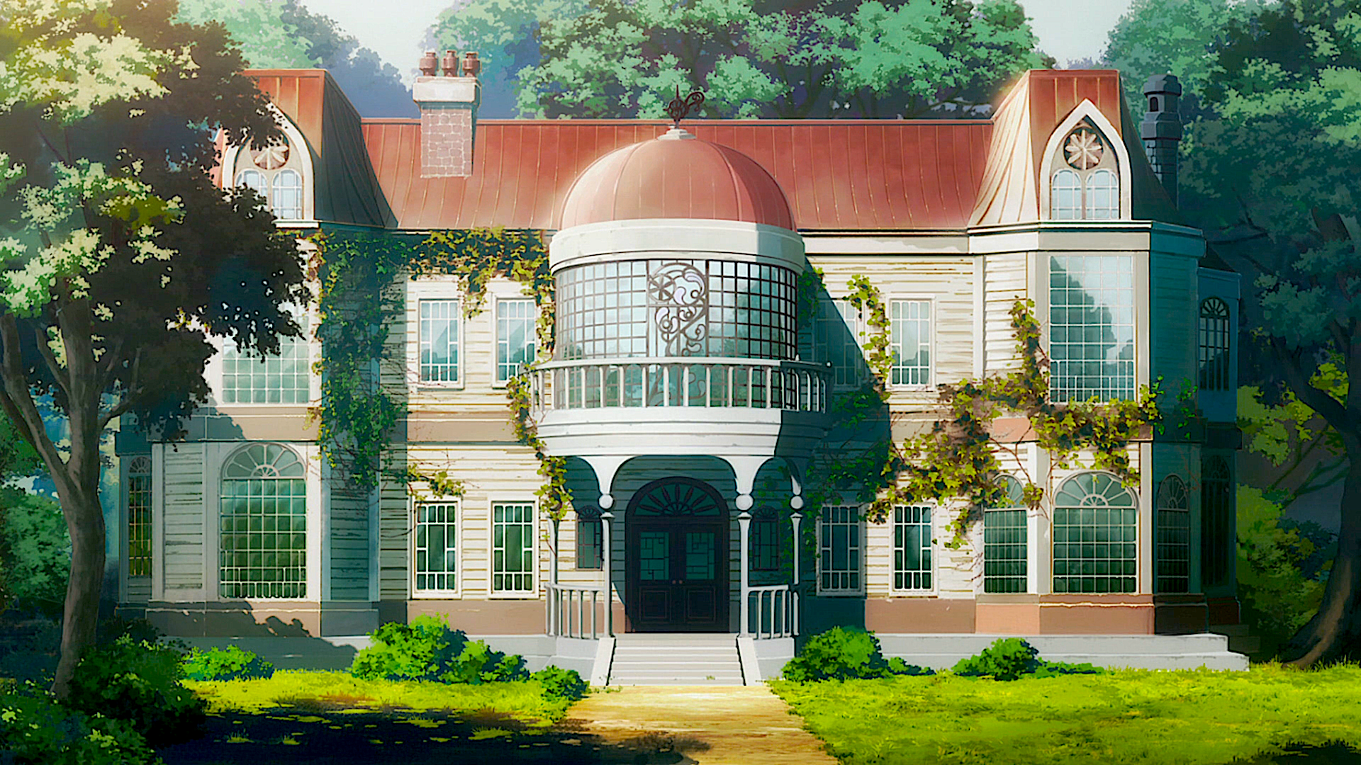 Anime - Darling in the FranXX  Nature Tree Anime Architecture Wallpaper