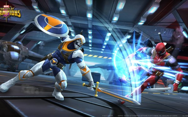 Video Game MARVEL Contest of Champions Taskmaster Deadpool HD Wallpaper | Background Image