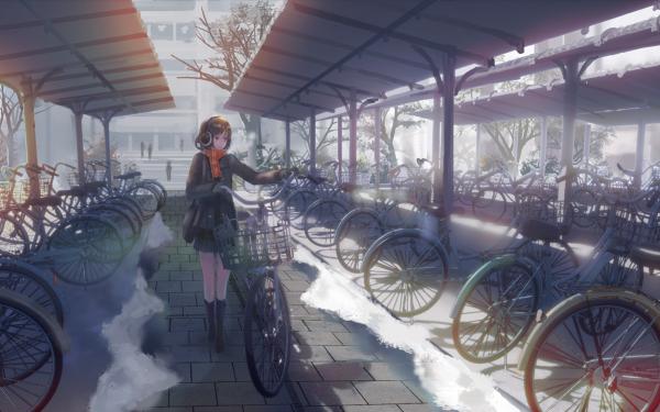 Anime Original Bicycle HD Wallpaper | Background Image