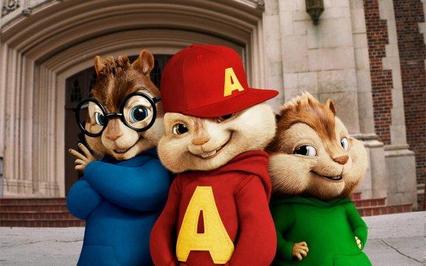 Film Alvin and the Chipmunks 3D Djur Glasses Chipmunk Cap HD Wallpaper | Background Image