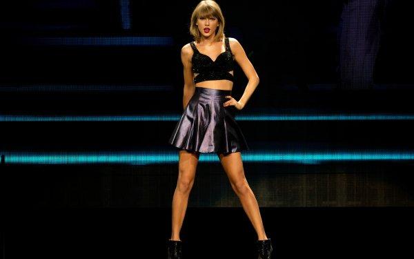 Music Taylor Swift Singers United States Woman Singer Blonde Lipstick Skirt Concert HD Wallpaper | Background Image