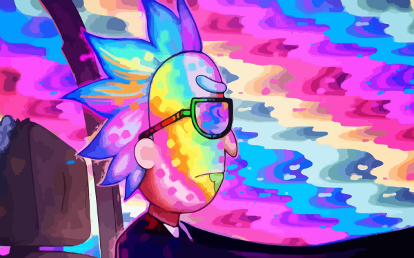 TV Show Rick and Morty Run the Jewels Rainbow Rick Sanchez HD Wallpaper | Background Image