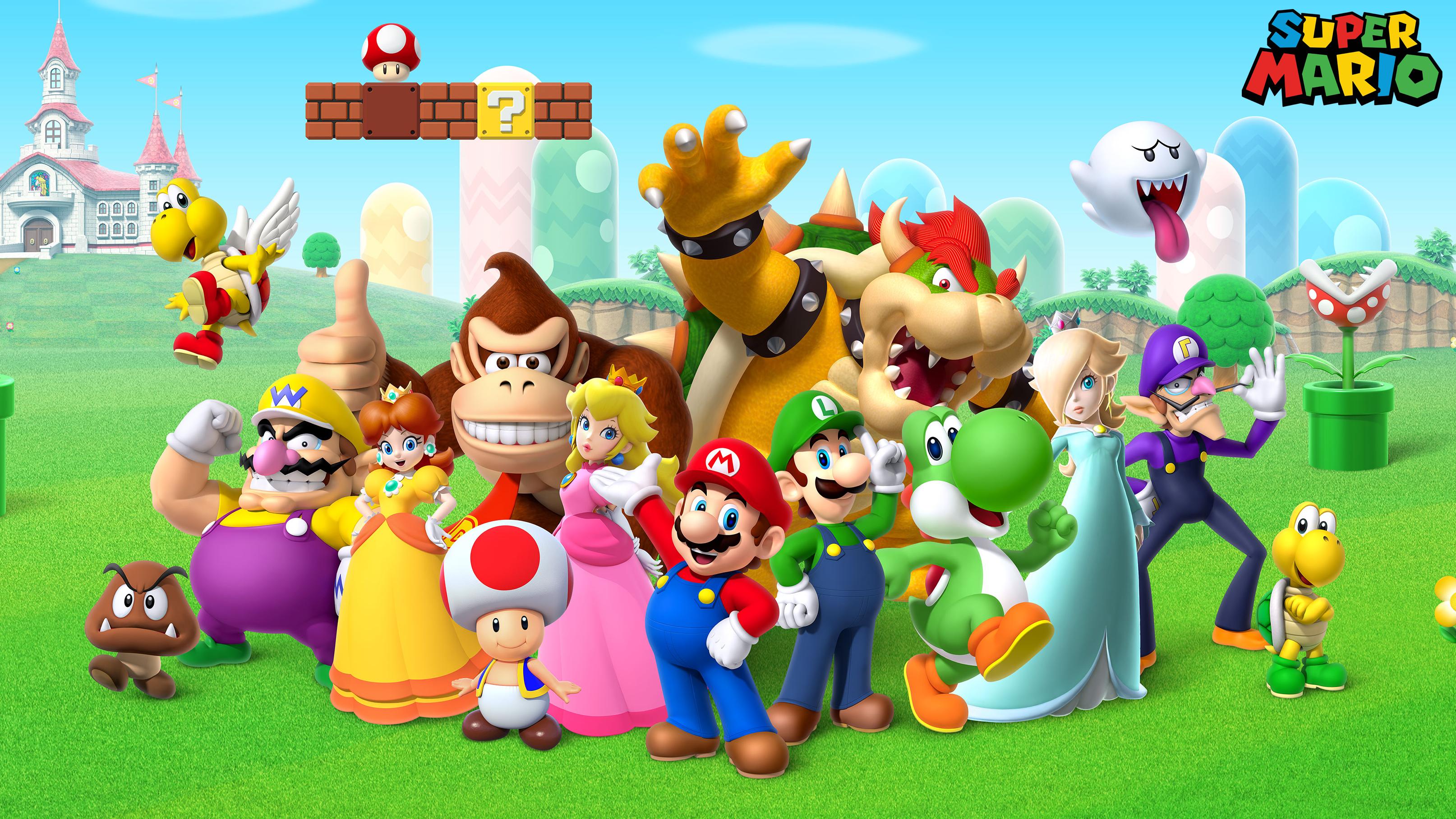 Super Mario Wallpaper Hd Wallpaper Background Image 3228x1815
