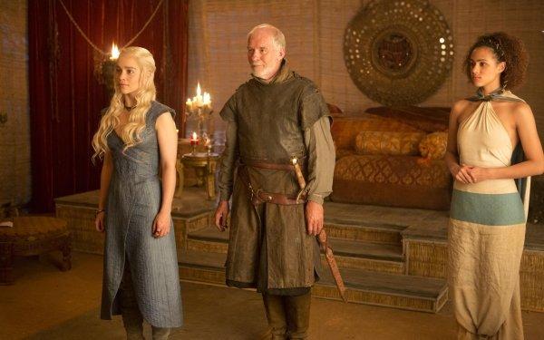 TV Show Game Of Thrones Daenerys Targaryen Barristan Selmy Missandei Emilia Clarke Ian McElhinney Nathalie Emmanuel HD Wallpaper | Background Image