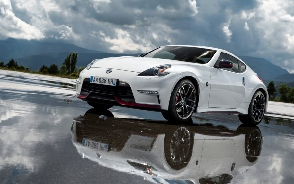 Vehicles Nissan 370Z Nismo Nissan Nissan 370Z Reflection White Car Sport Car Car HD Wallpaper | Background Image